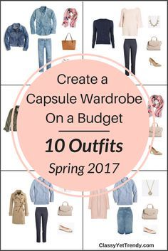 Create a Spring capsule wardrobe on a budget! This post is a preview of the E-Book, The Essential Capsule Wardrobe: Spring 2017 Collection. It reveals a few pieces in the capsule wardrobe and shows how you can mix and match those pieces for dozens of outfit ideas that even Joanna Gaines of Fixer Upper would love!