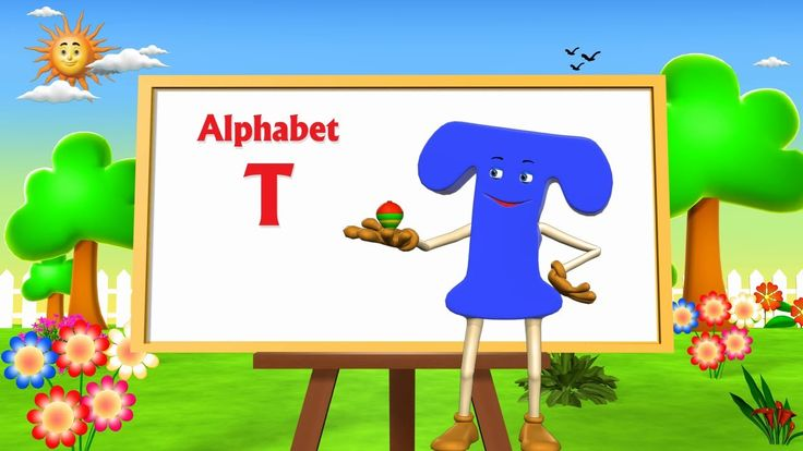 Letter T Song - 3D Animation Learning English Alphabet ABC Songs For chi...