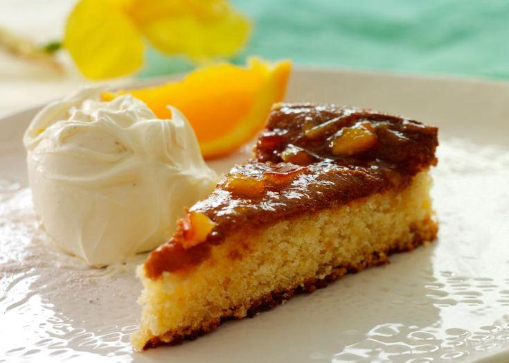 Appelsinmazarinkage - med marmelade og portvin - se opskrift