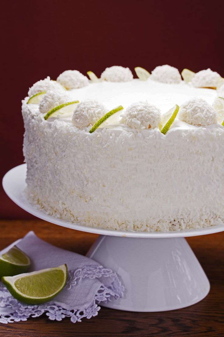 Coconut Lime Poke Cake with Cream Cheese Frosting