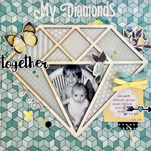 Layout con cornice diamante