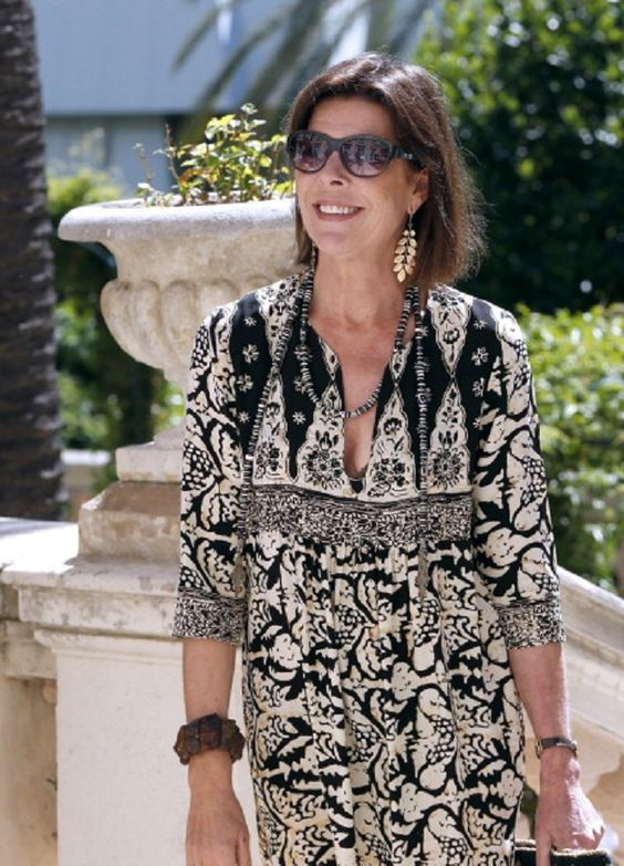 Princess Caroline of Monaco arrives on 08.07.2014 to visit the 'Portraits d'interieurs ('Interior Portraits') exhibition at the New National Museum in Monaco. The exhibition will run from July 10 to January 18, 2015.: