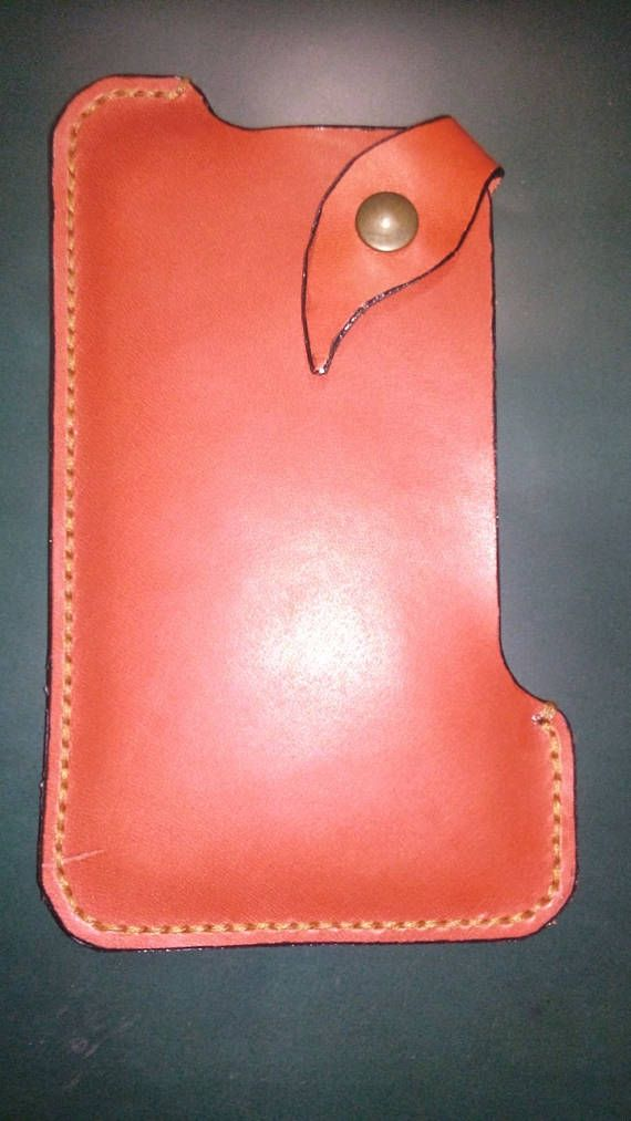 Leather case for mobile phone with snap Mobil phone holder