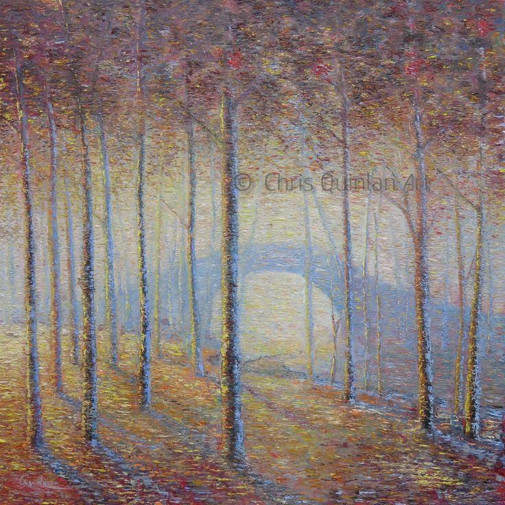 "Landscape Impressionism Artwork by Chris Quinlan - 39"" x 39""oil painting on canvas - http://quinlanart.com/114"