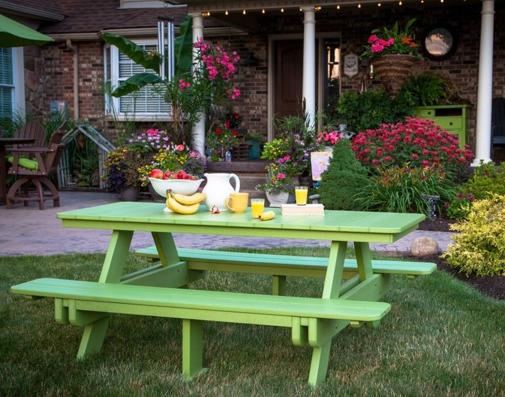 21 Best Picnic Table Painting Ideas Images On Pinterest