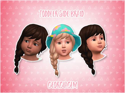 ⏩ Toddler Side Braid ⏪ ⏩ Here is a really cute side braid for your toddlers. I converted them from the get together pack and it was my first time messing around with hairs and I feel like it went really well. ⏩ The hair clips slightly by the left ear...