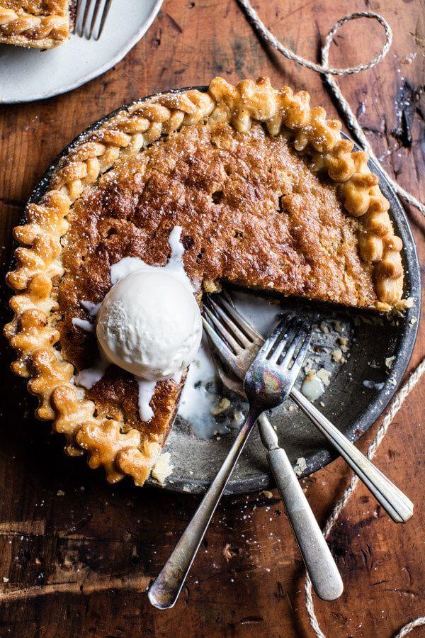 Gooey Chocolate Chip Cookie Pie | http://halfbakedharvest.com /hbharvest/