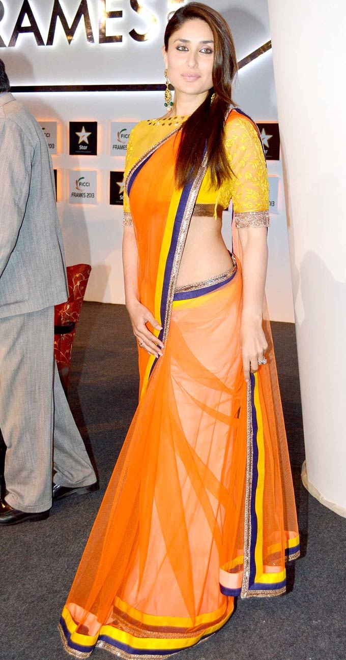 Kareena Kapoor at the FICCI Frames 2013 #Bollywood #Fashion #Stylehttps://www.facebook.com/pages/Hidesign-Fashion/394376317334134?ref=hl