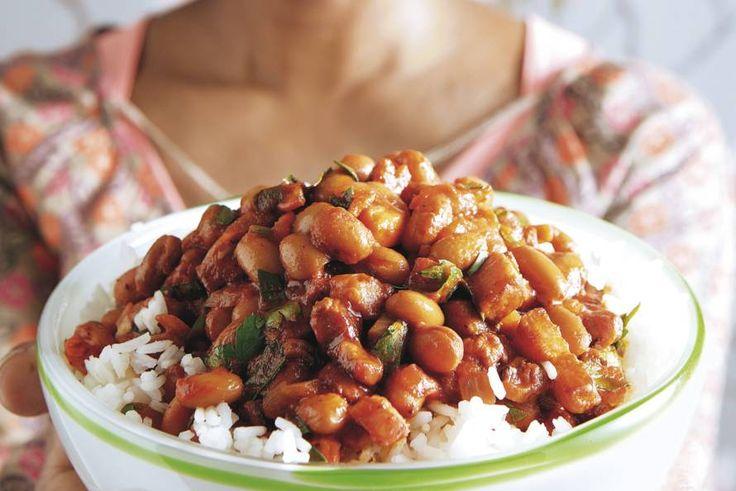 Kijk wat een lekker recept ik heb gevonden op Allerhande! Surinaamse bruine bonen met rijst