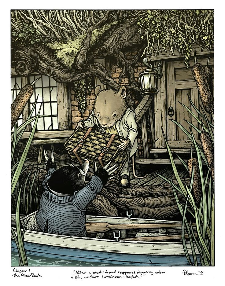 David petersen the wind in the willows willows
