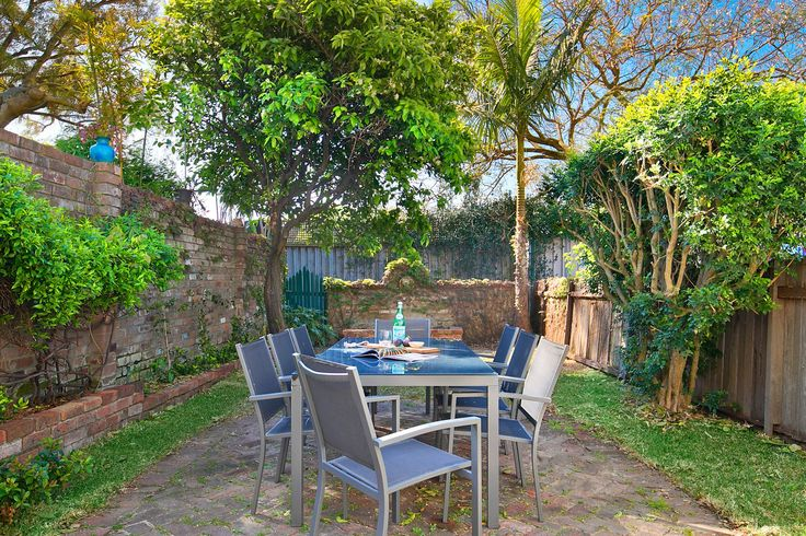 Large north-facing back garden filled with sunshine.