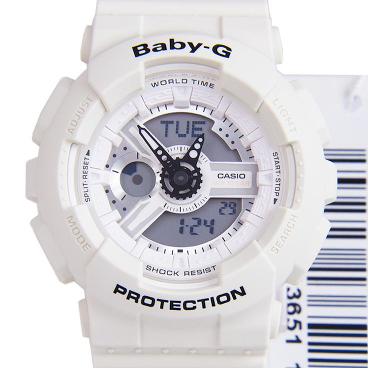 Chronograph-Divers.com - Casio Baby-G Auto Calendar World Time Sports Ladies White Band Watch BA-110PP-7A BA-110PP7, $98.00 (http://www.chronograph-divers.com/casio-baby-g-auto-calendar-world-time-sports-ladies-white-band-watch-ba-110pp-7a-ba-110pp7/)