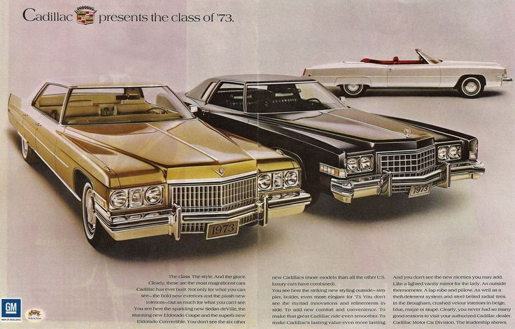 1973 Car Advertisements | old car ads home | old car brochures | old car manual project ...