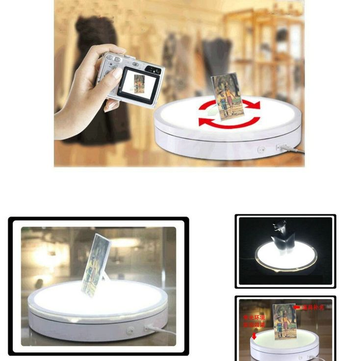 159.20$  Buy here - http://alitxl.worldwells.pw/go.php?t=32744058024 - HQ LT03 LUMINOUS 500X80MM Light Glowing Electric Automatic Rotary Rotating Turntable Swivel Plate Display Stand 159.20$