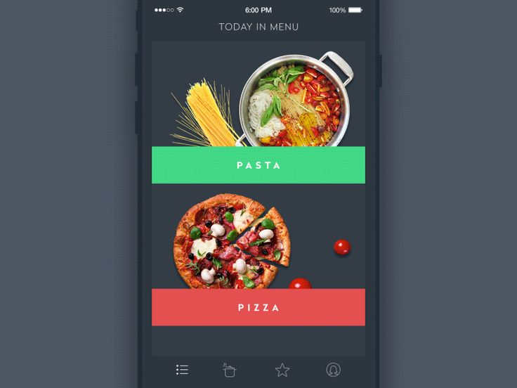 UI animation recipe and cooking app