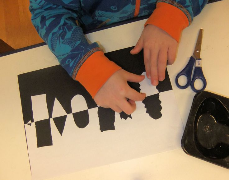 """Notan is a term used in Japanese art, meaning """"dark – light harmony."""" Find out how to make these creations with your kids with Hannah's Art Club."""