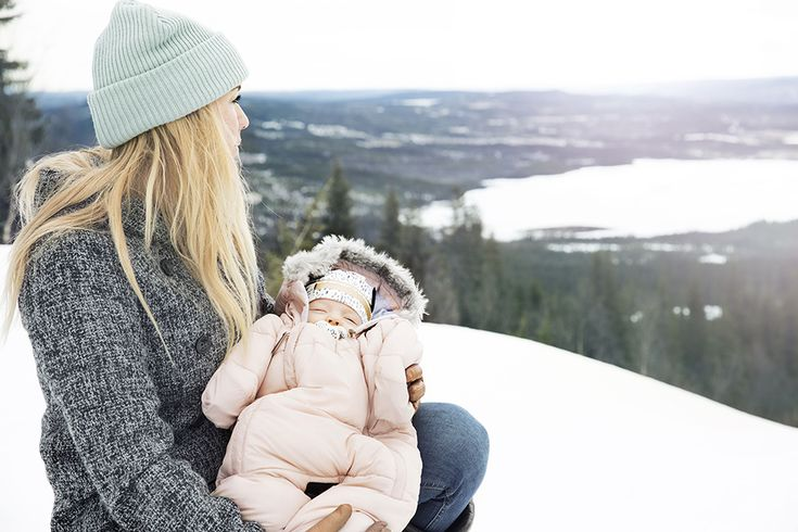 Elodie Details, Baby Overall - Powder Pink, Wool Cap - Mineral Green