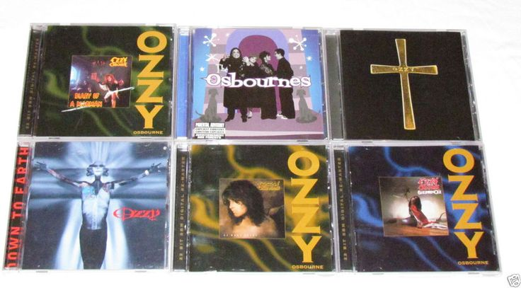 OZZY OSBOURNE 6 CD LOT COLLECTION ALBUMS Ozzman Cometh/No More Tears/Blizzard Oz