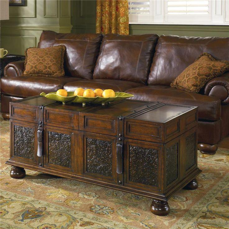 McKenna Storage Cocktail Trunk Table by Signature Design