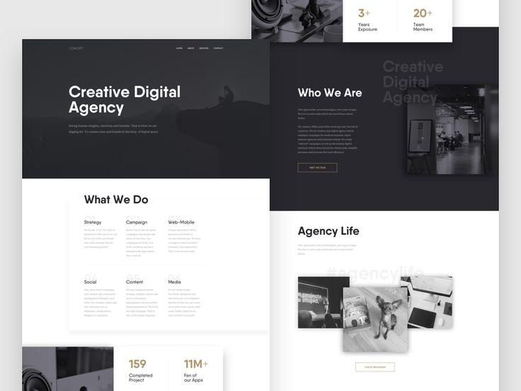 Agency Web - Concept by Tom Vranek