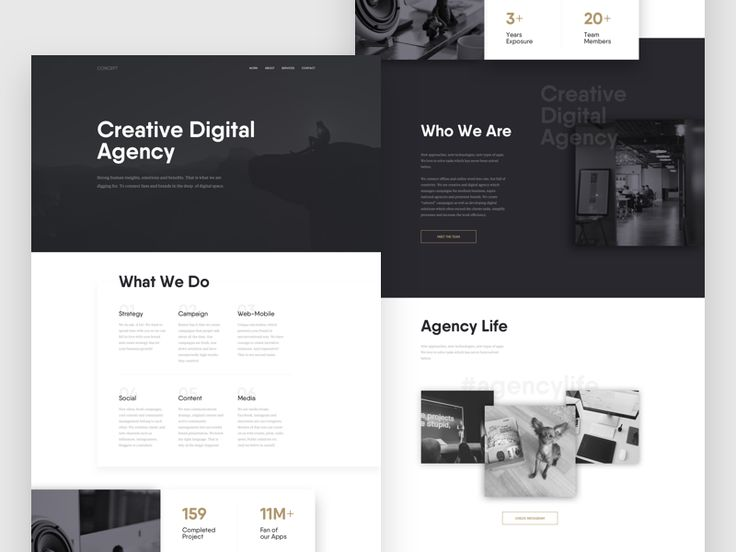 Agency Web - Concept by Tom Vranek