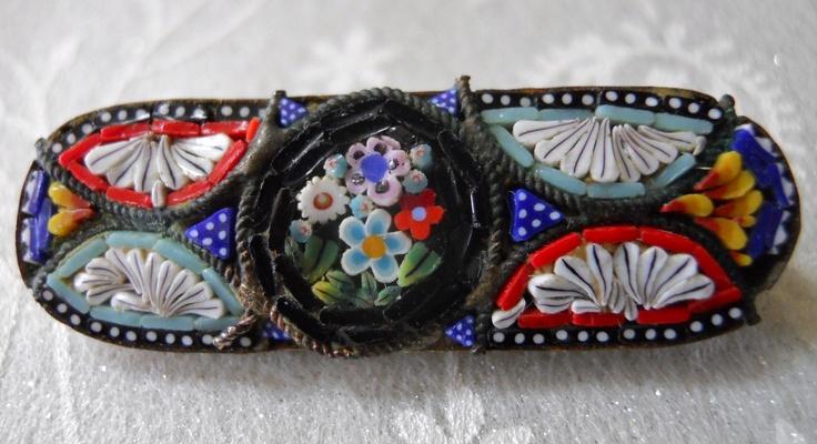 Vintage mosaic pin (Italy)Vintage Mosaics, Pin Italy, Mosaics Pin