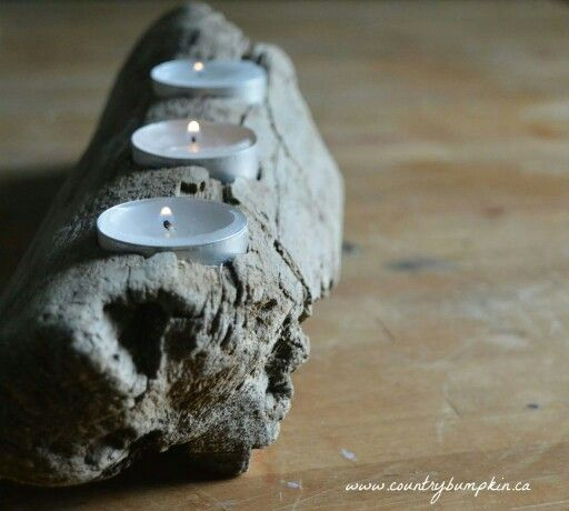 Simple driftwood candle holder :)  #diy #handmade #decor #ideas #upcycle #crafts