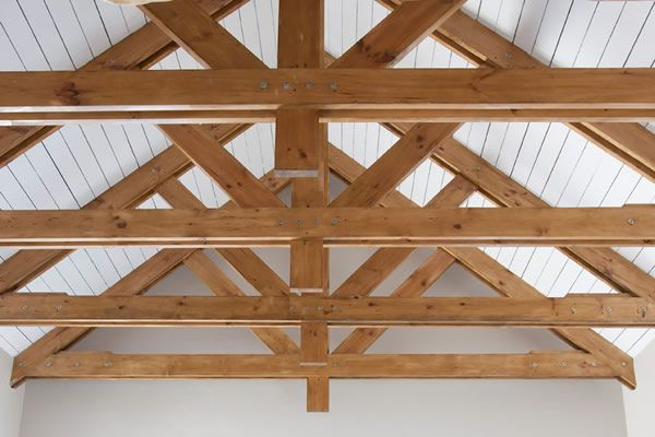 83 best timber frame images on pinterest exposed trusses for Exposed roof trusses images