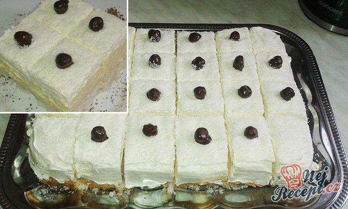 Lahodné kokosové kostky s vanilkovým krémem