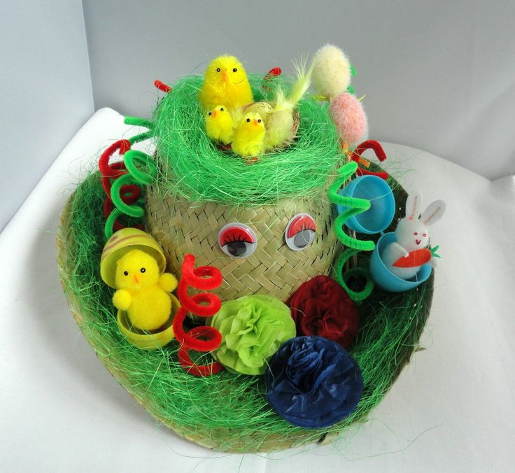 BOYS READY HAND MADE EASTER HAT PERFECT FOR SCHOOL PARADES EGG HUNT PARTY
