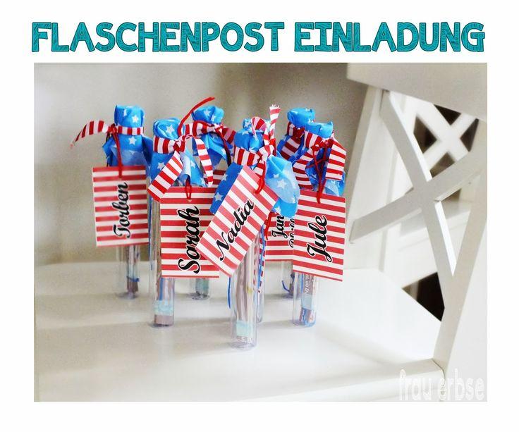 die elberbsen: ♥ DIY - Flaschenpost Einladung ♥