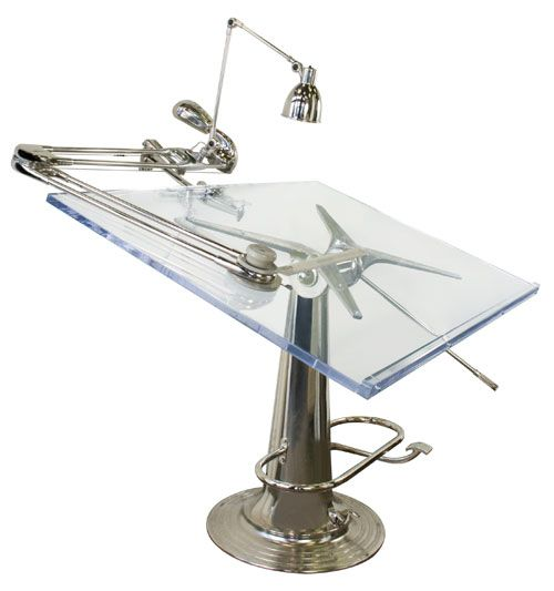 Drafting Table Accessories | This restored drafting table was made by Nike Hydraulics