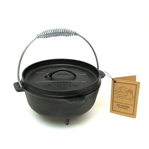 Old Mountain Cast Iron 2 Qt Small Dutch Oven With Feet