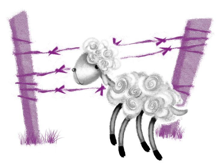 Canan Barış Illustration #illustration #lamb #sheep #kuzu #art