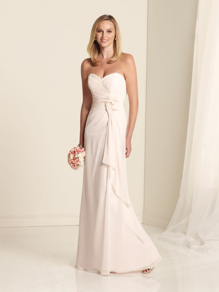 taffeta bridesmaid dress ruffles down back