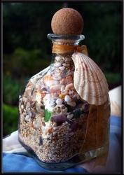 Hawaiian beach in a Patron bottle