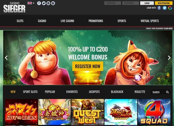 Sieger Casino 20 Free Spins No Deposit Bonus Casino Online Casino Sportsbook