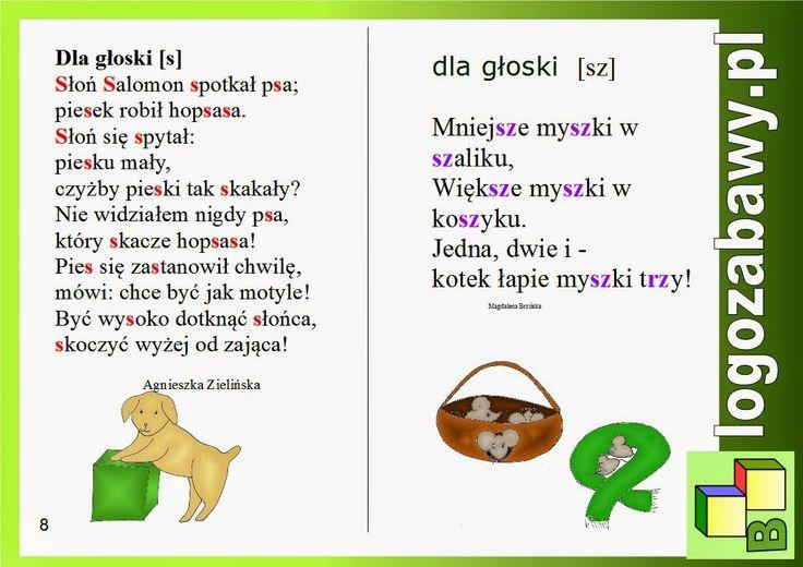 Zabawy logopedyczne - Zabawowy blog logopedyczny: Ilustrowana miniksiążeczka z naszymi rymowankami