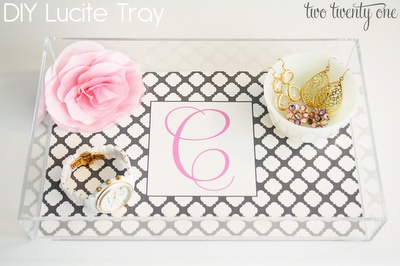 NEED a lucite tray, and LOVE how this is DIY! Maybe I'll make three. | DIY Lucite Tray