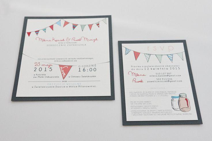 Oryginalne zaproszenia ślubne.
