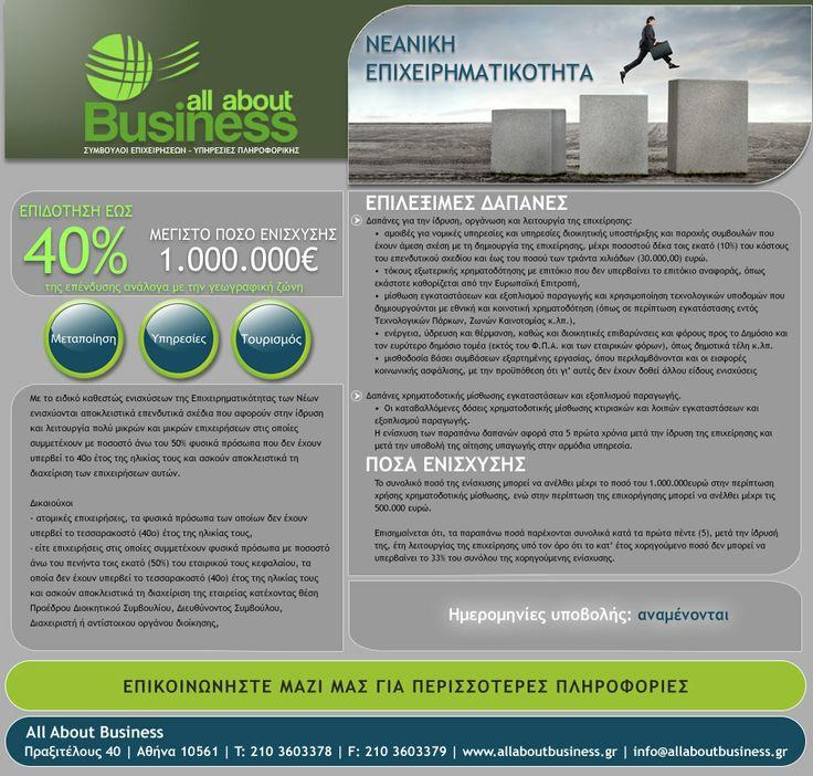 Ειδικό καθεστώς ενισχύσεων της Επιχειρηματικότητας των Νέων