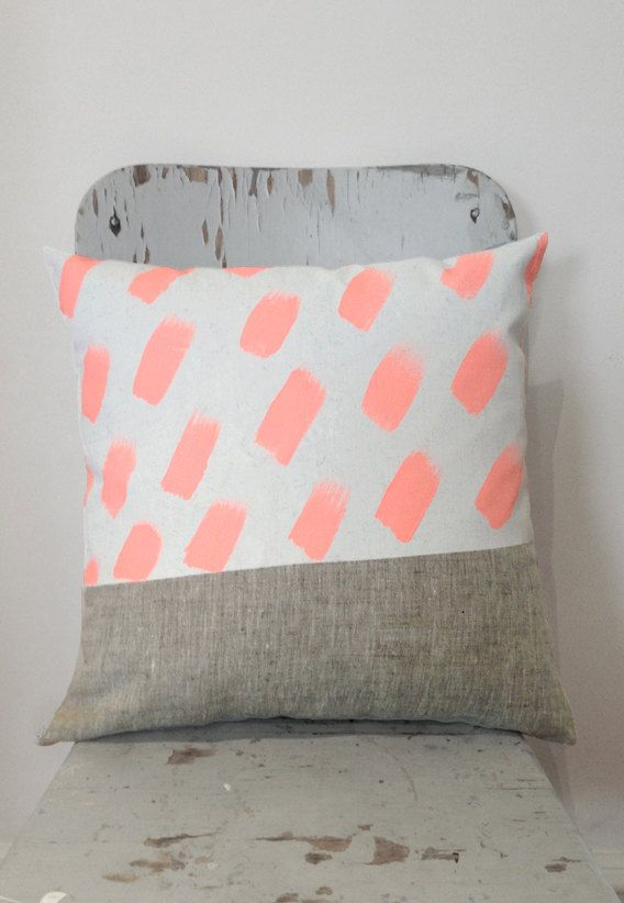 El Rancho Relaxo - Tiffany art cushion neon peach side