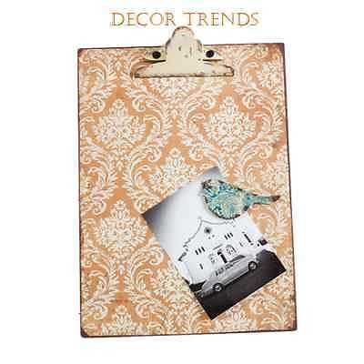 METAL PHOTOS NOTES CLIP BOARD WITH MAGNETIC BIRD CLIPBOARD ORANGE IRON MOROCCAN AU $22.50
