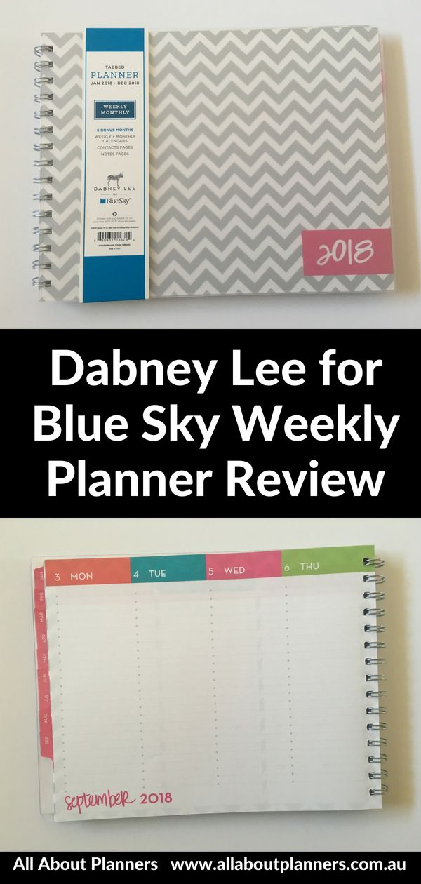 Dabney Lee For Blue Sky Horizontal Weekly Planner Review Weekly Planner Planner Review Horizontal Weekly Planner