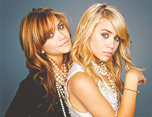 Mary Kate and Ashley Olsen.