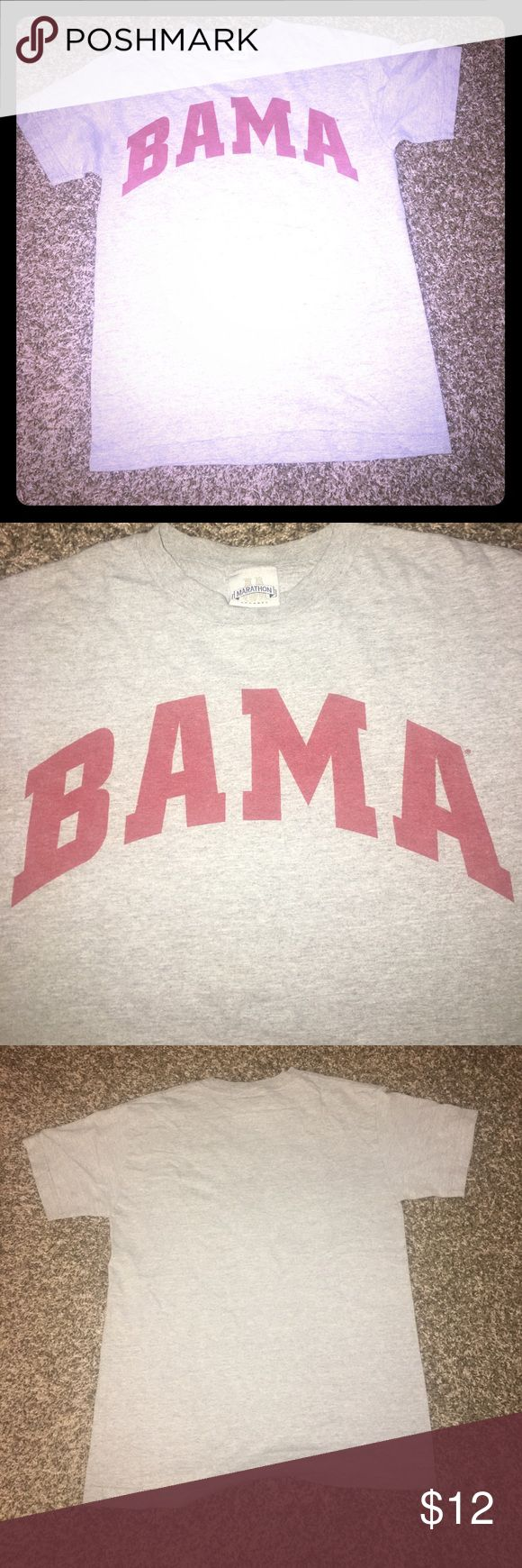 """Alabama Crimson Tide """"Bama"""" T-shirt small not worn Roll tide!!! Classic game day shirt found in my old college stuff.  Was vaccine sealed and I had so many I never wore it. It still has the original fold lines in it. Very slim-  great girlfriend T marathon apparel  Shirts Tees - Short Sleeve"""