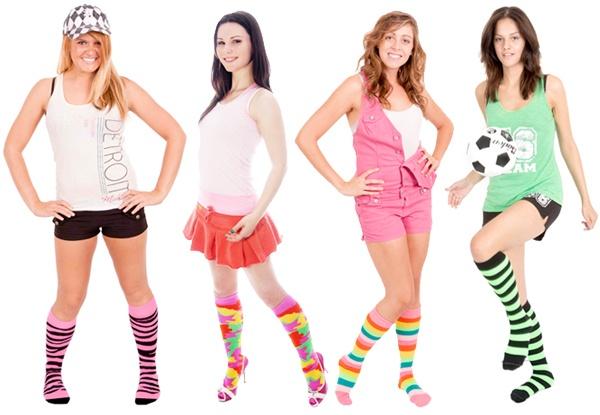 Neon Knee Socks