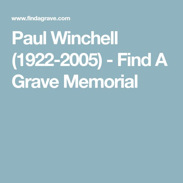 Paul Winchell (1922-2005) - Find A Grave Memorial