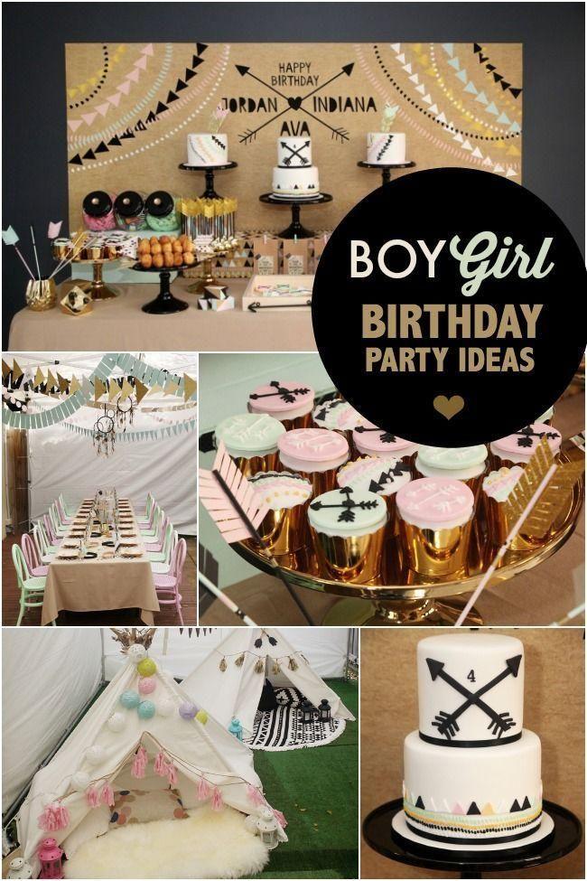 Aztec Inspired Boy Girl Sibling Birthday Party Sibling Birthday