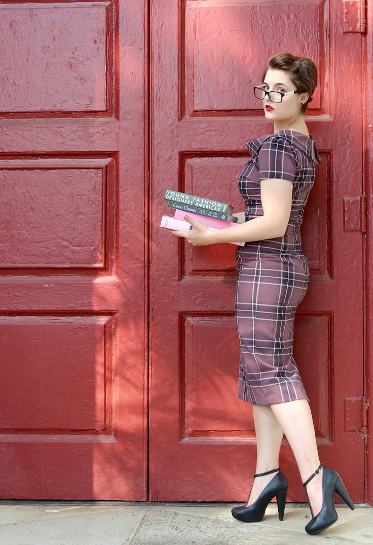 Sexy librarian dress from Roadkill Ranch & Boutique.